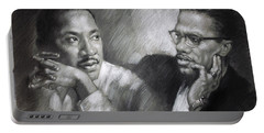 Martin Luther King Jr And Malcolm X Portable Battery Charger
