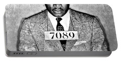 Martin Luther King Mugshot Portable Battery Charger by Bill Cannon