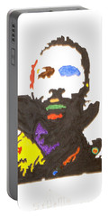 Portable Battery Charger featuring the painting Marvin Gaye by Stormm Bradshaw