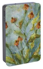 Portable Battery Charger featuring the painting Mary's Garden by Mary Wolf
