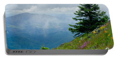 Mary's Peak Viewpoint Portable Battery Charger by Nick  Boren