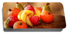 Marzipan Fruits Portable Battery Charger by Amanda Elwell