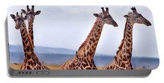 Masai Giraffe Portable Battery Charger by Adam Romanowicz