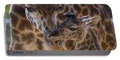 Masai Giraffe And Calf Portable Battery Charger