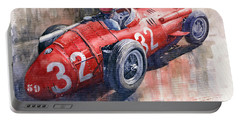 Maserati 250f J M Fangio Monaco Gp 1957 Portable Battery Charger