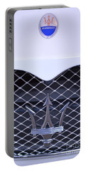Maserati Emblems Portable Battery Charger by Pamela Walrath