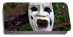Mask And Ladybugs Portable Battery Charger by Garry Gay