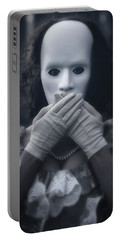 Masked Woman Portable Battery Charger