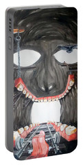 Portable Battery Charger featuring the painting Masquera Carcaza  by Lazaro Hurtado