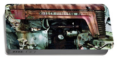 Portable Battery Charger featuring the photograph Massey-ferguson by Patricia Greer