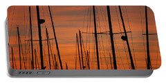 Masts At Sunset Portable Battery Charger