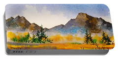 Portable Battery Charger featuring the painting Matanuska Autumn by Teresa Ascone