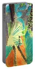 Matisse's Palm Leaf In Tangier Portable Battery Charger by Cora Wandel