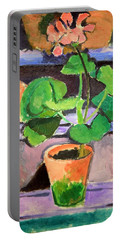 Matisse's Pot Of Geraniums Portable Battery Charger by Cora Wandel