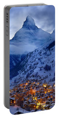 Matterhorn At Twilight Portable Battery Charger by Brian Jannsen