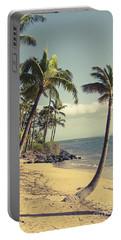 Portable Battery Charger featuring the photograph Maui Lu Beach Hawaii by Sharon Mau