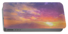 Coastal Hawaiian Beach Sunset Landscape And Ocean Seascape Portable Battery Charger
