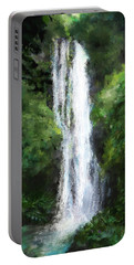 Maui Waterfall Portable Battery Charger by Susan Kinney