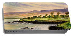 Mauna Kea Golf Course Hawaii Hole 3 Portable Battery Charger by Bill Holkham