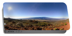 Mauna Loa Moonlight Panorama Portable Battery Charger