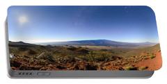 Mauna Loa Moonlight Panorama Portable Battery Charger