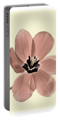 Mauve Tulip Transparency Portable Battery Charger