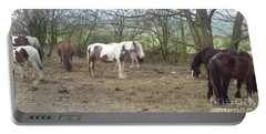 May Hill Ponies 1 Portable Battery Charger by John Williams