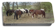 May Hill Ponies 3 Portable Battery Charger by John Williams