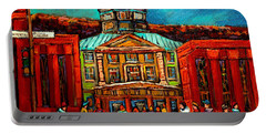 Mcgill Gates Montreal Portable Battery Charger by Carole Spandau