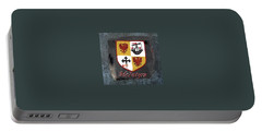 Portable Battery Charger featuring the painting Mcintyre Coat Of Arms by Barbara McDevitt