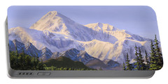 Majestic Denali Mountain Landscape - Alaska Painting - Mountains And River - Wilderness Decor Portable Battery Charger