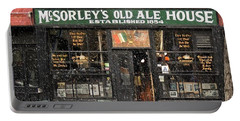 Mcsorley's Old Ale House During A Snow Storm Portable Battery Charger