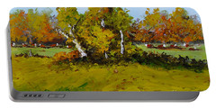 Meadow In Autumn Portable Battery Charger by Fred Wilson