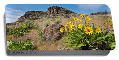 Portable Battery Charger featuring the photograph Meadow Of Arrowleaf Balsamroot by Jeff Goulden