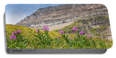 Meadow Of Fireweed Below The Continental Divide Portable Battery Charger
