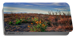 Portable Battery Charger featuring the photograph Meadow Of Wild Flowers by Eti Reid