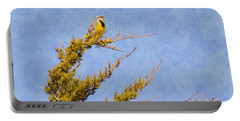 Meadowlark Serenade Portable Battery Charger by Deena Stoddard