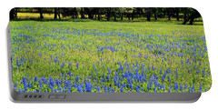 Meadows Of Blue And Yellow. Texas Wildflowers Portable Battery Charger by Connie Fox