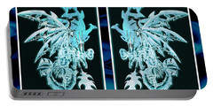 Mech Dragons Diamond Ice Crystals Portable Battery Charger by Shawn Dall