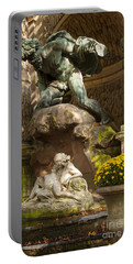 Medici Fountain - Paris Portable Battery Charger by Brian Jannsen
