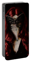 Portable Battery Charger featuring the digital art Medico Della Peste by Galen Valle