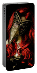 Portable Battery Charger featuring the digital art Medico Della Peste Seconda by Galen Valle