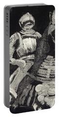 Medieval Knight On Horseback - Chevalier - Caballero - Cavaleiro - Fidalgo - Riddare -ridder -ritter Portable Battery Charger