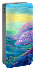Meditation In Mauve Portable Battery Charger