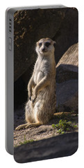Meerkat Looking Forward Portable Battery Charger by Chris Flees