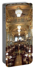 Meet Me For Coffee - New York Cafe - Budapest Portable Battery Charger by Lucinda Walter