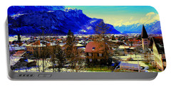 Meiringen Switzerland Alpine Village Portable Battery Charger by Tom Jelen