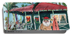 Mele Kalikimaka Hawaiian Santa Portable Battery Charger