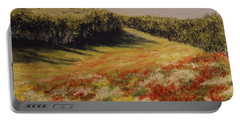 Portable Battery Charger featuring the painting Melkow Trail  by Stanza Widen