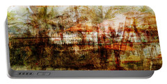 Portable Battery Charger featuring the mixed media Memories #1 by Sandy MacGowan
